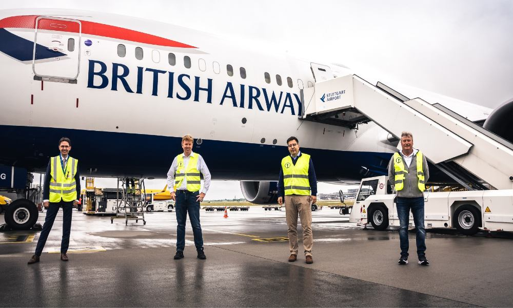 Kuehne+Nagel and IAG Cargo completed a chain of 16 charter flights from Stuttgart to Atlanta fully carbon neutral after securing initial 1.2 million litres of SAF.