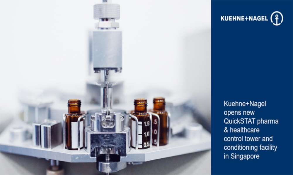 Kuehne+Nagel's QuickSTAT opens pharma and healthcare tower in Singapore