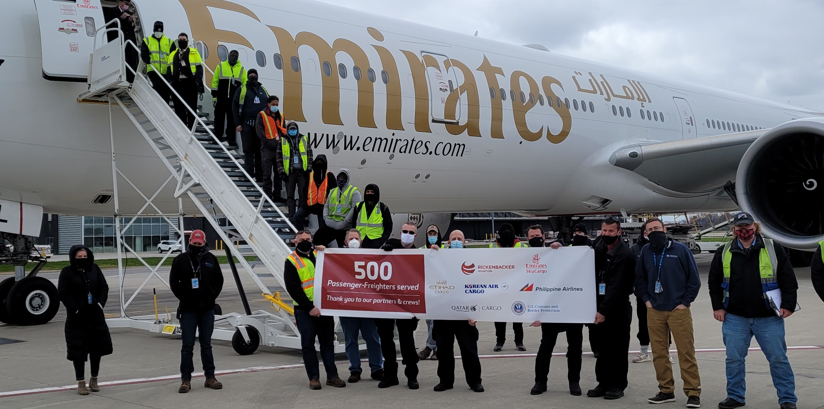 Rickenbacker International Airport (LCK) welcomed its 500th passenger-freighter on April 1. Rickenbacker is one of the few non-passenger hub airports to accommodate these unique cargo-only flights.