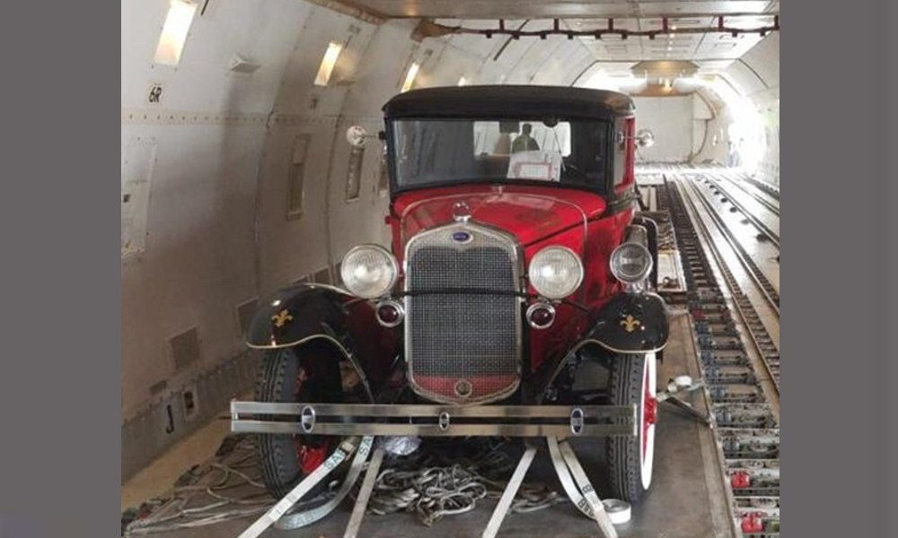 Magma Aviation delivered vintage Fire truck from the USA to Germany
