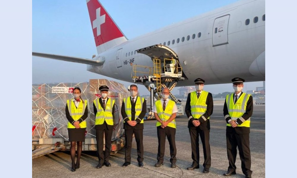 Swiss WorldCargo carried out five flights to support humanitarian aid