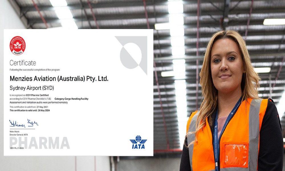 Menzies Cargo Sydney receives IATA CEIV Pharma accreditation