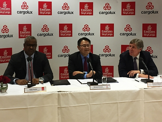 Emirates Sky Cargo and Cargolux sign MoU for cargo operations