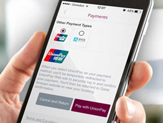 Qatar Airways expands payment options for travellers through UnionPay