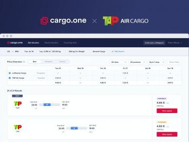 TAP Air Cargo real-time quotes now live on cargo.one