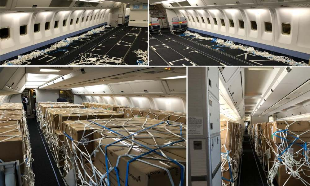 Chapman Freeborn charters B767-300 preighter to transport 1,400 boxes of Covid-19 test kits