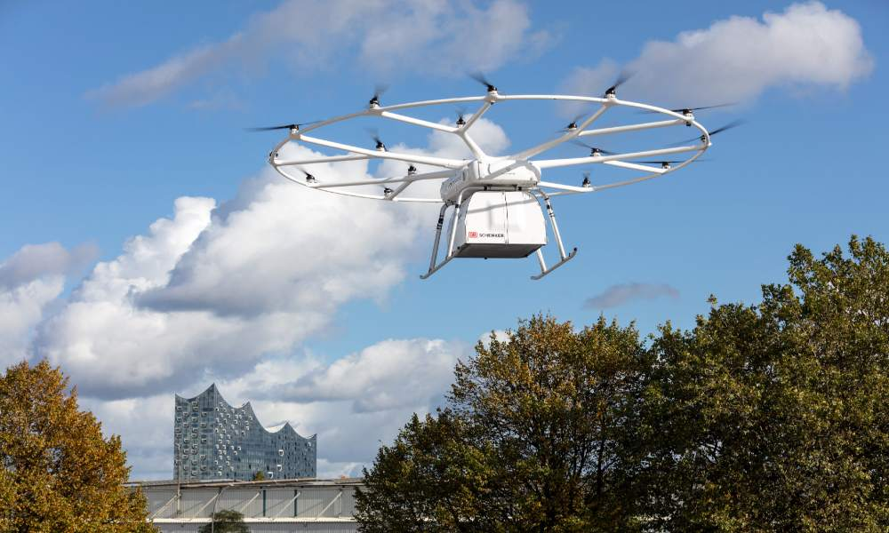 Volocopter's VoloDrone conducted debut public flight