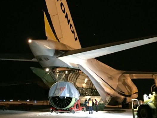 Air Charter Service helps deliver B777 engine in Arctic climate