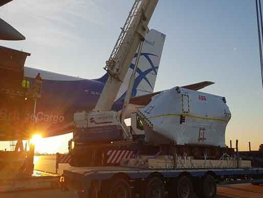 Oversized motor shipment moves to Shanghai aboard ABC Airlines
