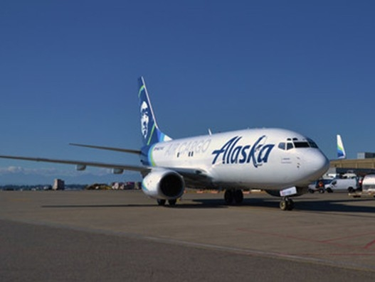 Alaska Air Cargo's first converted 737-700 freighter to operate on Seattle-Alaska route