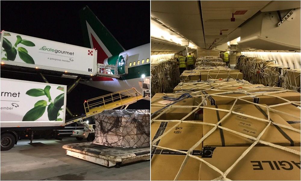 Alitalia Cargo carries record 53 tonne cargo load from Mumbai to Rome