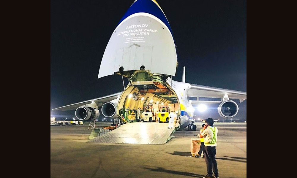 Antonov Airlines transports 70 tonnes of medical equipment from Israel to India