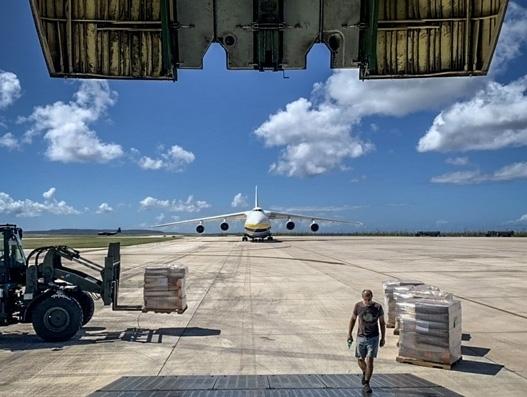 Antonov in relief cargo delivery to aid Hurricane-stricken Saipan