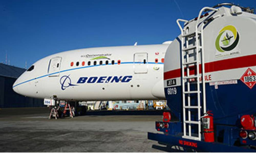 The commitment is to determine what changes are required for its current and future commercial airplanes to fly on 100 per cent sustainable fuels, and to work with regulatory authorities and across the industry to raise the blending limit for expanded use.