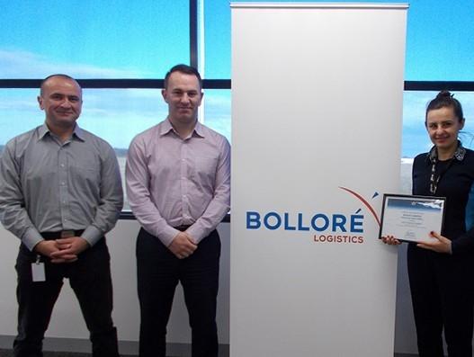 Bolloré Logistics Melbourne receives the CEIV pharma certification from IATA in Australia