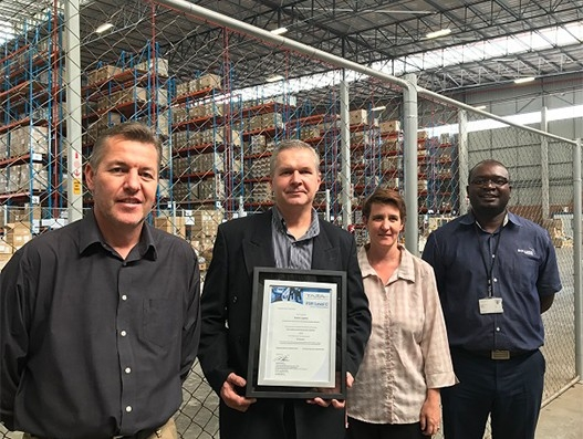 Bolloré Logistics South Africa receives the TAPA Level C certification