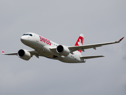 Bombardier delivers the sixth CS100 aircraft to SWISS
