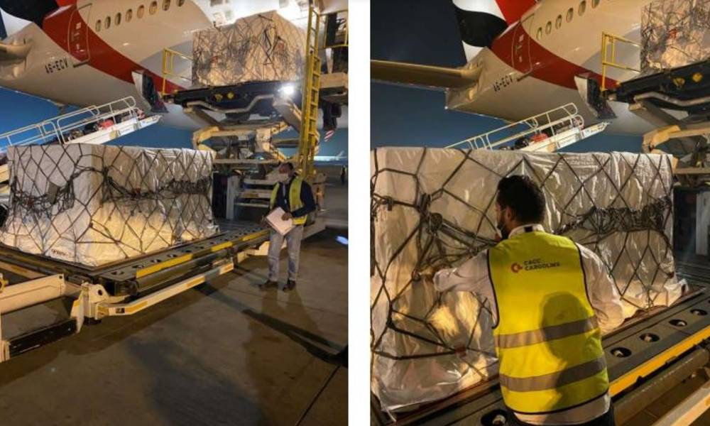 CACC Cargolinx handles first Covid-19 vaccine shipment at Cairo International Airport