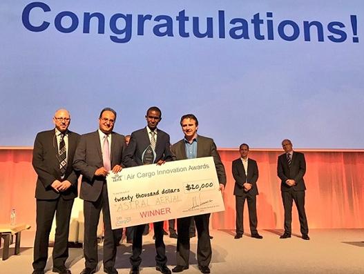 Drone traffic system that won IATA Innovation Award 2017