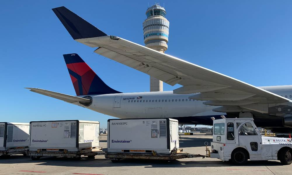 Delta Cargo delivers Covid-19 vaccine shipments from Detroit to Atlanta, San Francisco