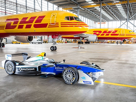 DHL delivers all-electric Formula E racing cars to New York city