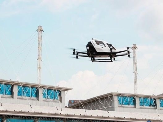 EHang performs demo flight of its autonomous aerial vehicle in Jilin, China