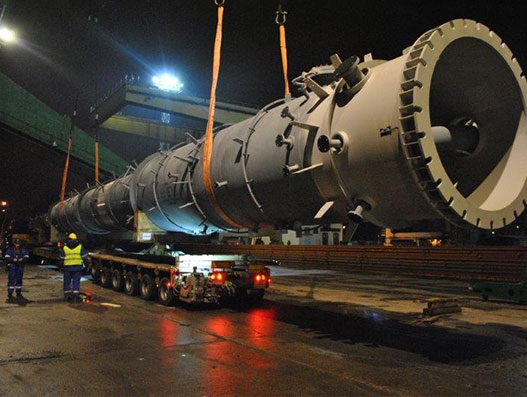 GEODIS transported out-of-gauge refinery modules for Kinetics Technology
