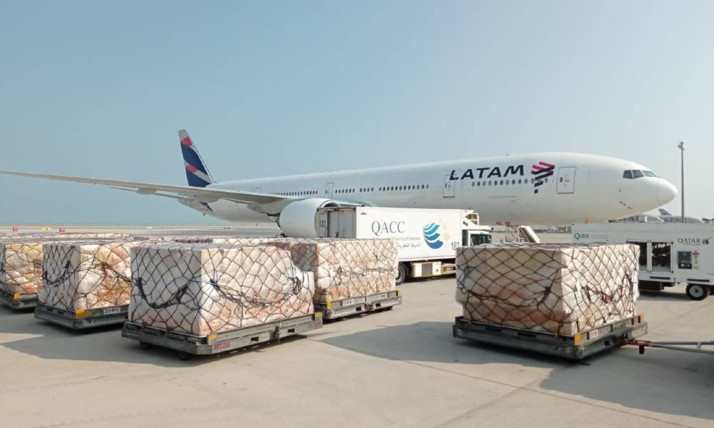 LATAM Cargo operates first flight to Qatar from Brazil