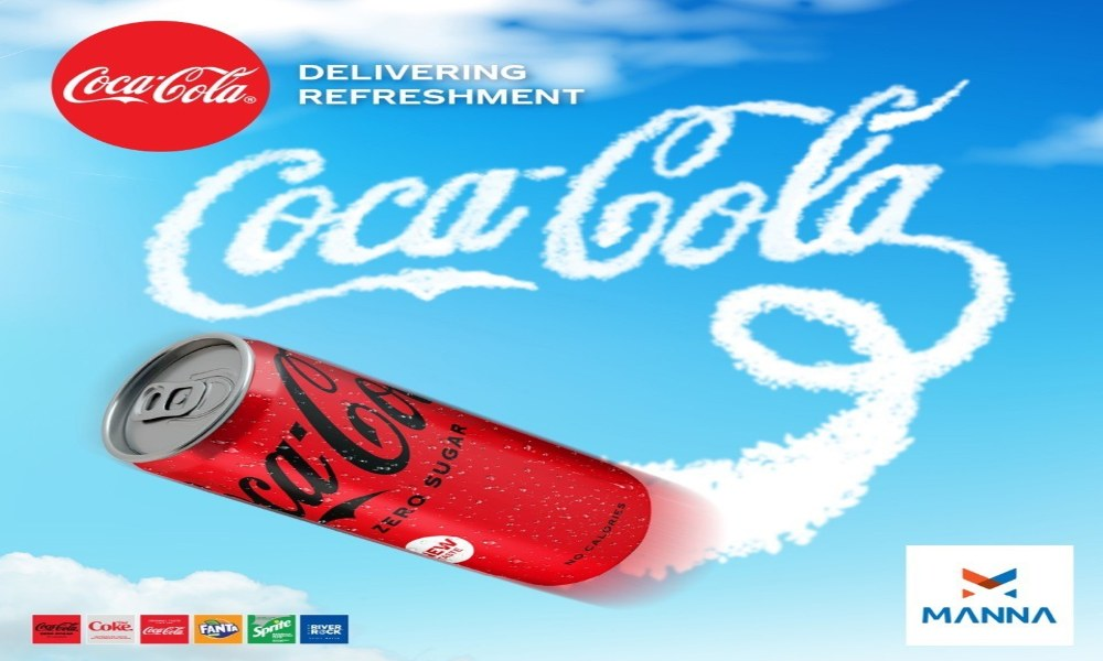Manna drones to deliver Coca-Cola Zero Sugar, Fanta and Sprite in Oranmore