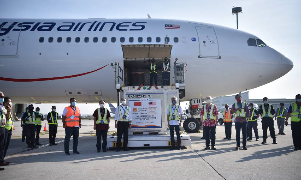 MASkargo flies in first Sinovac Covid-19 vaccines from China to Malaysia