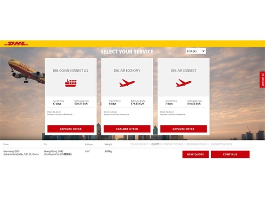 DHL Global Forwarding eases air and ocean freight booking process with myDHLi