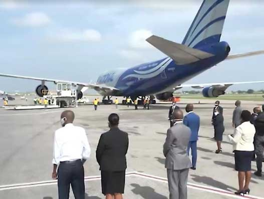 National begins flying Covid-19 combat relief supplies to Haiti