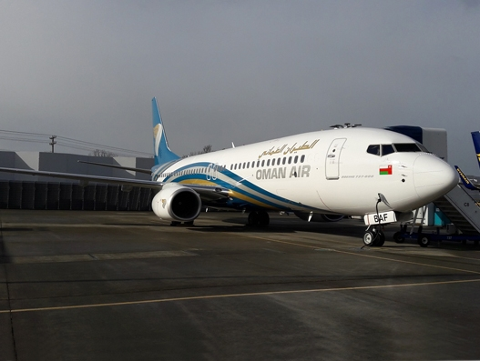 Oman Air adds new Boeing B737-800 to its fleet