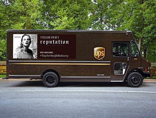 Pop singer Taylor Swift partners with UPS for the delivery of 6th studio album