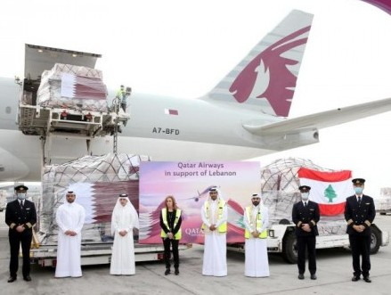 Qatar Airways Cargo moves 45 tonnes of essential supplies to Lebanon