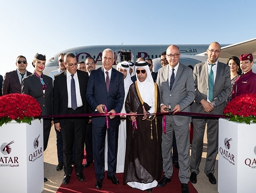 Qatar Airways' inaugural flight to Rabat touches down at Rabat–Sale Airport