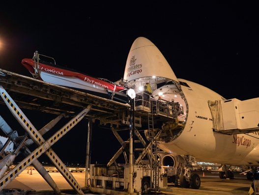 Race boat travels on Emirates SkyCargo craft from Auckland to Bermuda
