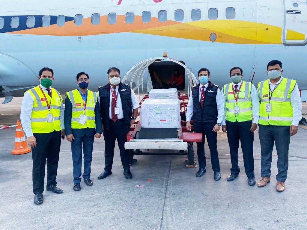 SpiceJet carries India's first Covid-19 vaccine consignment; transports 4 million doses on Day 1
