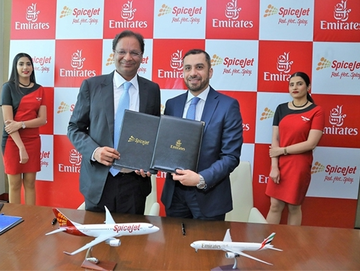 India's SpiceJet inks codeshare agreement with Emirates