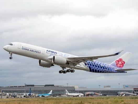 Taiwan's China Airlines takes delivery of new A350-900 aircraft