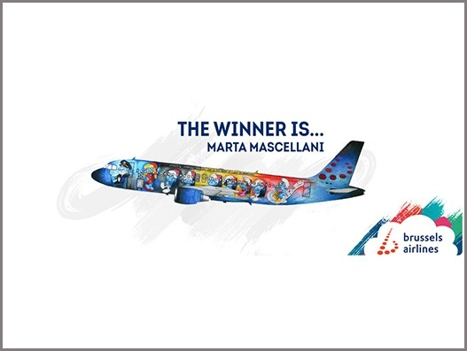 The Smurfs on Brussels Airlines fifth special livery plane