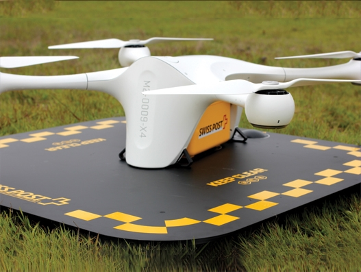 Swiss Post plans to use drones for the Ticino hospital group in Lugano
