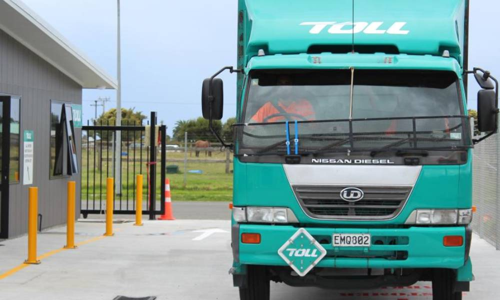 Toll New Zealand's new purpose-built site opens for business in New Plymouth