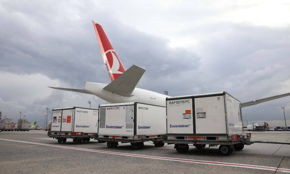 Turkish Cargo carries Covid-19 vaccines from China to Brazil