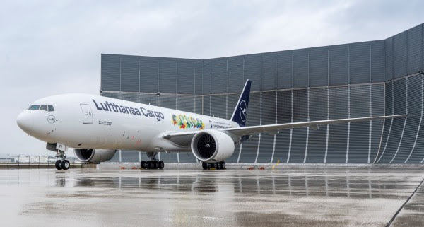 Lufthansa Cargo's Boeing 777F gets special livery to support social commitment