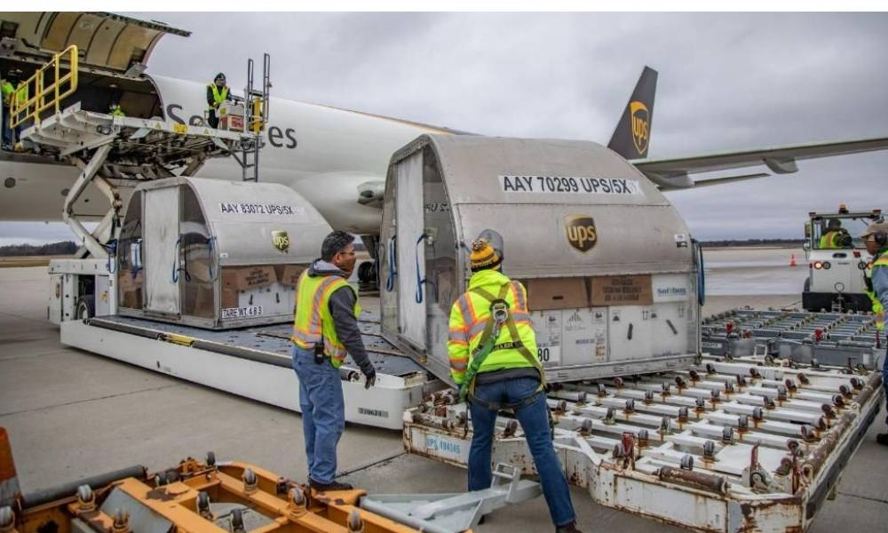 UPS delivers first Covid-19 vaccines to distribution sites in the US