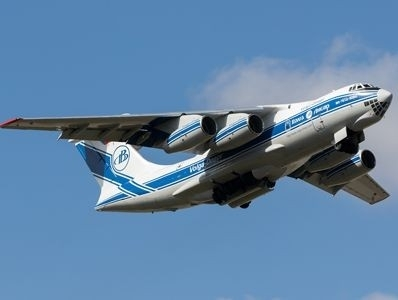 Volga-Dnepr's IL-76TD-90VD freighter delivers drilling machine to mining project in India