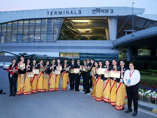 Air India's all-women crew makes history