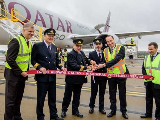 Qatar Cargo's inaugural freighter touches down in Pittsburgh