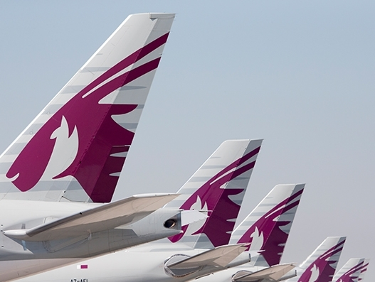 Qatar Airways' maiden flight lands at Václav Havel Airport Prague